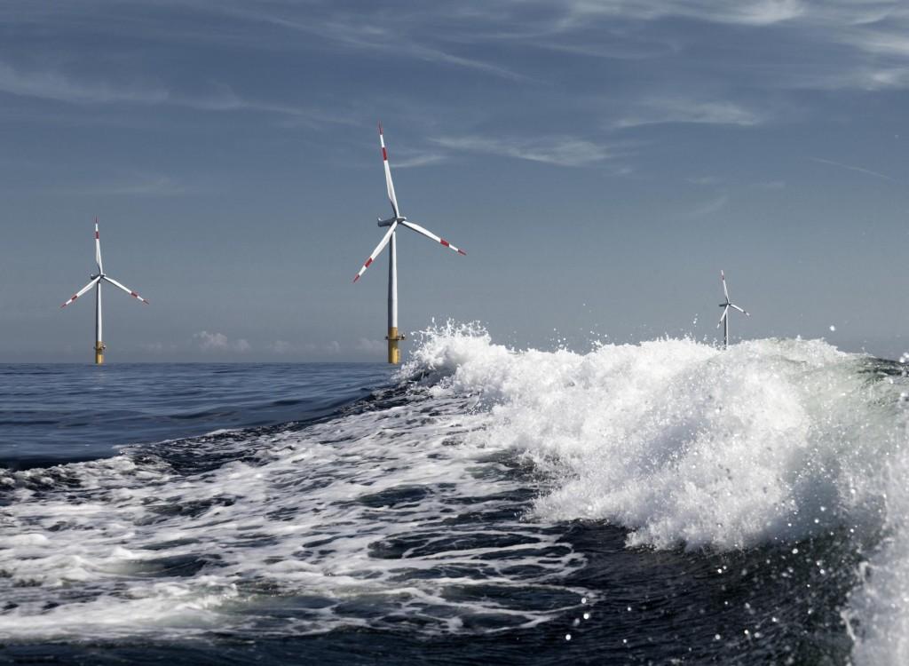 Saksalainen Baltic One -tuulipuisto. Greenpeace / Zenit / Paul Langrock.
