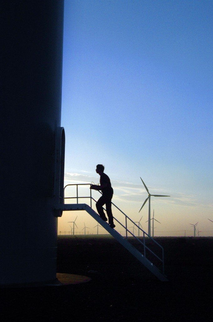 Dabanchengin tuulipuisto Kiinassa. Greenpeace / Hu Wei.