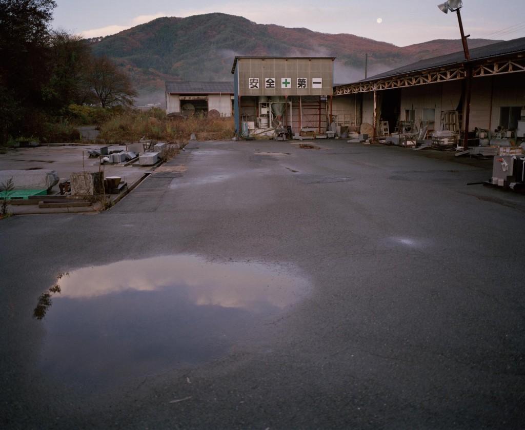 Saastunutta kaupunkia Fukushimassa.